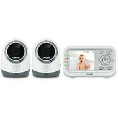 Vtech VM342-2 Expandable Digital Video Baby Monitor with 2 Cameras. New. Fr Shpg