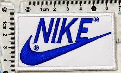 Sports badges logo colourful nike Blue iron//sew on Embroidered Patch applique