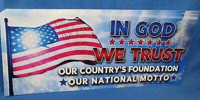 WHOLESALE LOT OF 20 IN GOD WE TRUST STICKER National Motto USA Flag TRUMP 2020 $