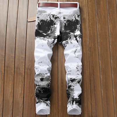 New Men/'s Jeans Skinny Trousers Fashion Jean Denim Pants Italy size Letters 938