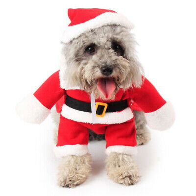 Cute Pet Cat Dog Puppy-Santa Claus Christmas Cosplay Coat Costume Outfit Clothes