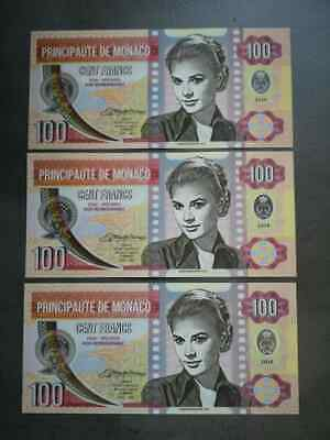 Monaco 100 Francs 2019 Private Issue Clear Window Polymer /> Grace Kelly