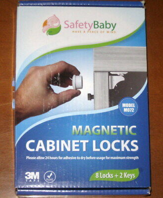 New Safety Baby Magnetic Cabinet Locks Child Baby Proof No Tools 8 Locks 2 Keys