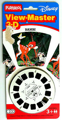 3x VIEW MASTER SCHEIBE / BAMBI / DISNEY WALT / CARTOONS / MOVIE / PLAYSKOOL 1089