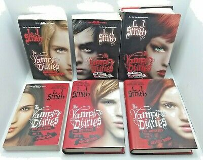 Lot of 6 Vampire Diaries Bks Hunters & Return Series HC & TPB Good Condition