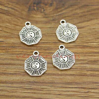 SC5466 BULK 10 Hope Connector Charms Antique Silver Tone