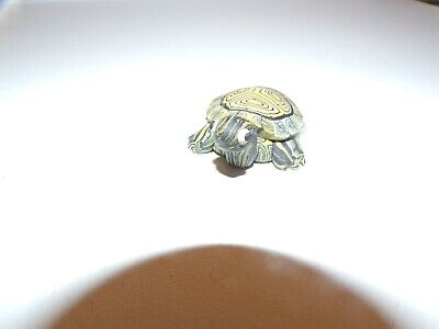 Yellow & Green Mini Turtle Figurine