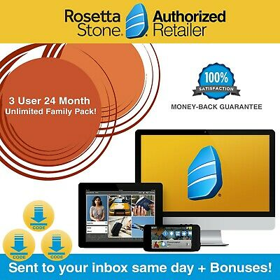 Rosetta Stone® UNLIMITED MULTI-USER 24 Month Homeschool Course App Pick Language