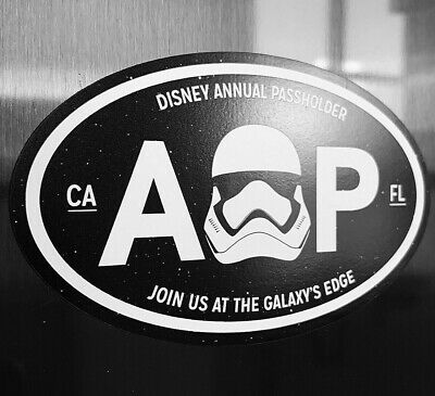 Disney Galaxy's Edge Star Wars Land Black Annual Passholder Car, Fan Art Magnet