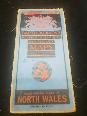 Antique Bartholomew,S Map Of North Wales