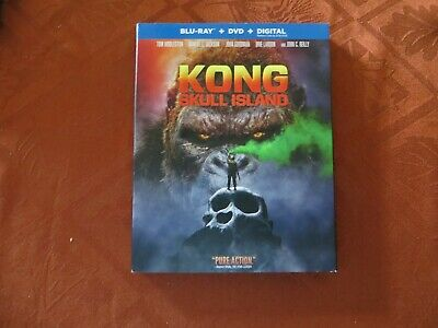 Kong,  Skull Island,  Blu-ray + Dvd + Digital, With Slipcover Free Shipping