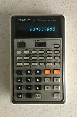Calculadora Casio Fx-102 Scientific Calculator Vintage Científica 10 Dígitos