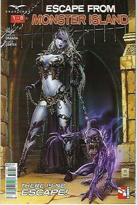 "Escape From Monster Island # 1 Mike Krome Variant Cover ""C"" !!!   NM"