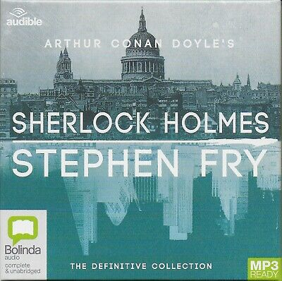 SHERLOCK HOLMES Unabridged Audiobook Collection 9 MP3 CDs read by Stephen Fry