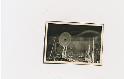 1950s Vintage Unusual Performance Circus Related? Spinning Round Objects by Feet