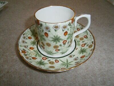 William Morris Daisy Pattern Espresso Cup & Saucer From Museum Collections Ltd