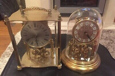 2 X Brass Clocks For Spares Or Repair