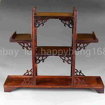Chinese hand-made hardwood rosewood antique wooden stand d01