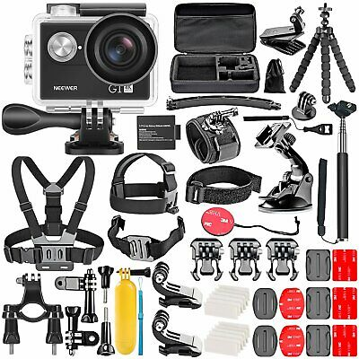 Neewer Caméra d'action G1 Ultra HD 4K 12 M 170° +50 Accessoires GoPro Action Pro