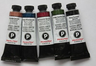 5 DANIEL SMITH Extra Fine Watercolor Paint:15ml-all Series 3- PRIMATEK-5 SET