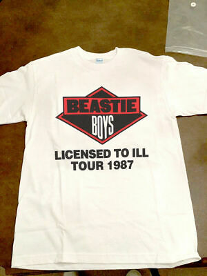 RARE!!! Beastie Boys Licensed To Ill Tour 1987 White T-shirt Gildan Reprint1