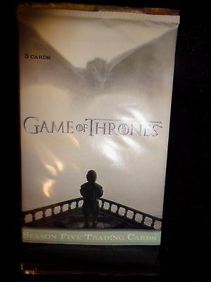 2016 Rittenhouse Game of Thrones Season 5 Trading Card Pack! (NS30,70)