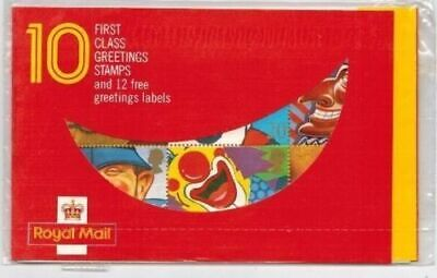 Mint 1990 Gb Royal Mail Greetings First Class Stamp Booklet Sealed