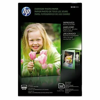 "HP Everyday Photo Inkjet Paper 100 Sheets Glossy 4"" x 6"" - Sealed New In Box"