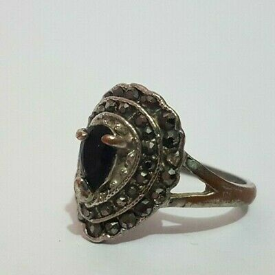 Wonderful Ancient Roman Antique Ring Bronze with stones Artifact Rare Type