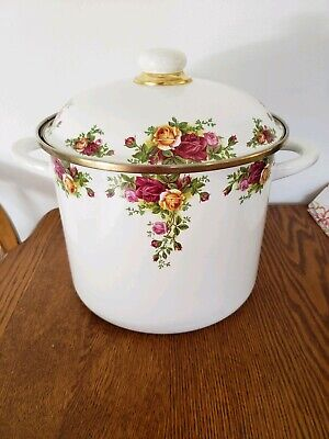 Royal Albert Enamelware Old Country Roses Stock Pot