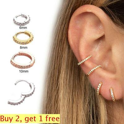 1PC New Cartilage Tragus  Daith Conch Hoop Earring Nose Ring  CZ Ear Piercing