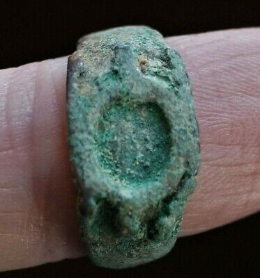 ANCIENT GREEK BRONZE FINGER RING circa 400 BC, 10mm wide. 18mm i.d. Wearable