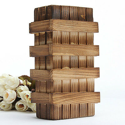 1*Chinese Vintage Classic Brain Magic Trick Wooden Puzzle Box Secret Drawer #IN9