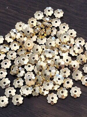 Gold Flower Spacer Beads 8mm X 100