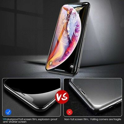 10D Full Curved Tempered Glass Screen Protector Guard For iPhoneX XR XS Max