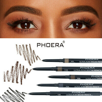 Double Ends Eyebrow Pencil Ultra Thin Tip Waterproof Long-lasting Pen With Brush