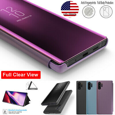 Samsung Galaxy Note 10+ Plus Smart Clear Mirror PU Leather Flip Stand Case Cover