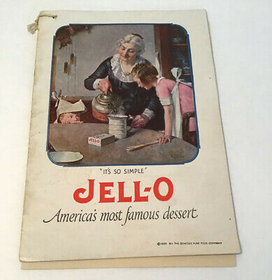 Vintage JELL-O Advertising Booklet 1923