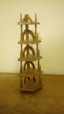 1/12th scale Dolls Furniture   Walnut etagerie Corner Unit