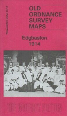 EDGBASTON 1914, Old Ordnance Survey Map, Warwickshire Sheet 13.12