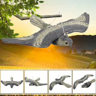 Flying Falcon Hawk Bird Scarer Hunting Fake Decoy Deterrent Garden Hanging Decor