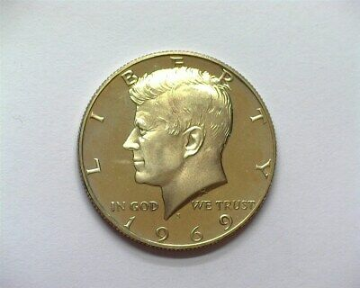 1969-S Kennedy 50 Cents  Near Perfect Proof Dcam