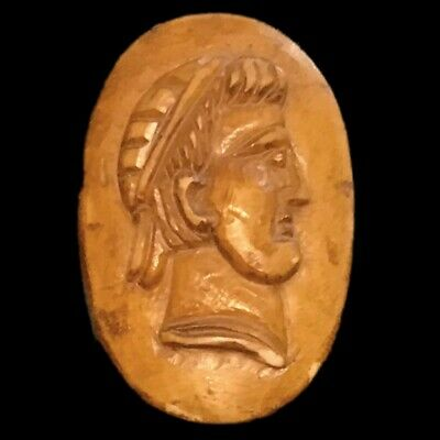 VERY RARE ANCIENT ROMAN PERIOD BUST PENDANT 2nd-3rd Cent AD (2)