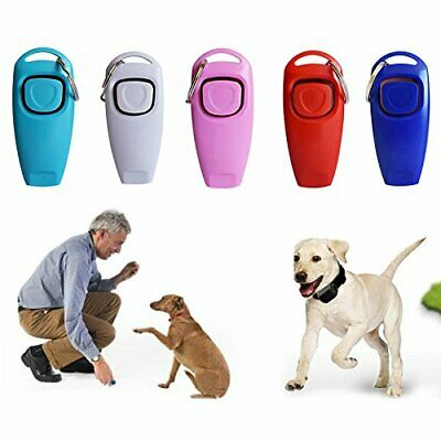 Clicker & Whistle Dog Pet Training Obedience Agility Trainer Click