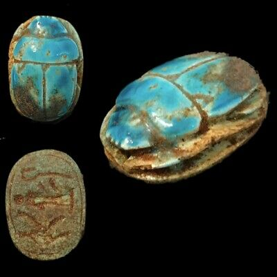 Beautiful Ancient Egyptian Scarab 300 Bc (3)