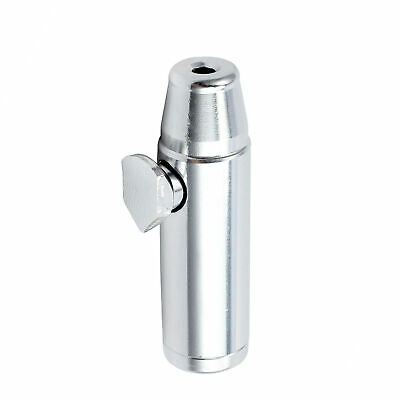 Metal Snuff Bullet Box Dispenser Snorter Snuffer Bullet Rocket Shape Aluminum