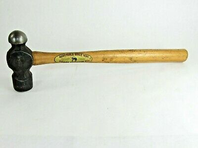 Superb Heller Brother # 1107 7 Blacksmith Hammer With Full Handle Label T5745