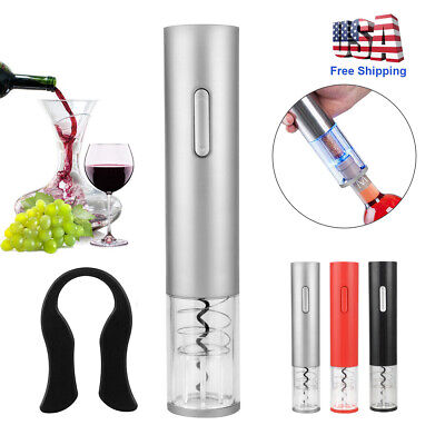 Electric Wine Bottle Opener Automatic Corkscrew Foil Cutter Remover Rechargeable
