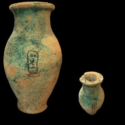 Very Rare Large Ancient Egyptian Storage Jar Vessel Late Period 664 - 332 Bc (4)