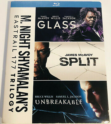 M. Night Shyamalan's Eastrail 177 Trilogy - Glass/Split/Unbreakable on Blu-Ray